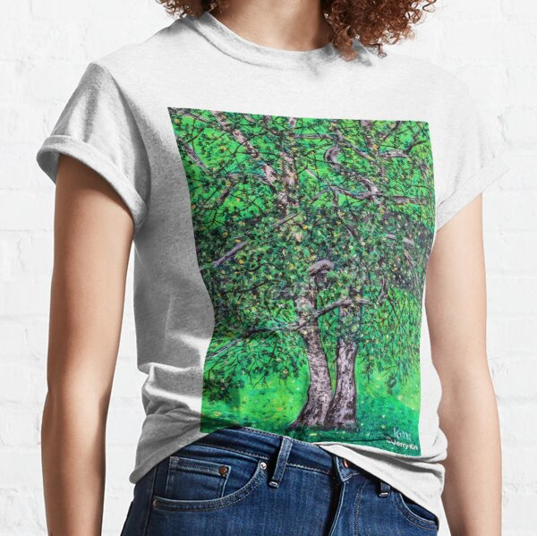 'Elm Trees' (Plein Air Painting) Classic T-Shirt