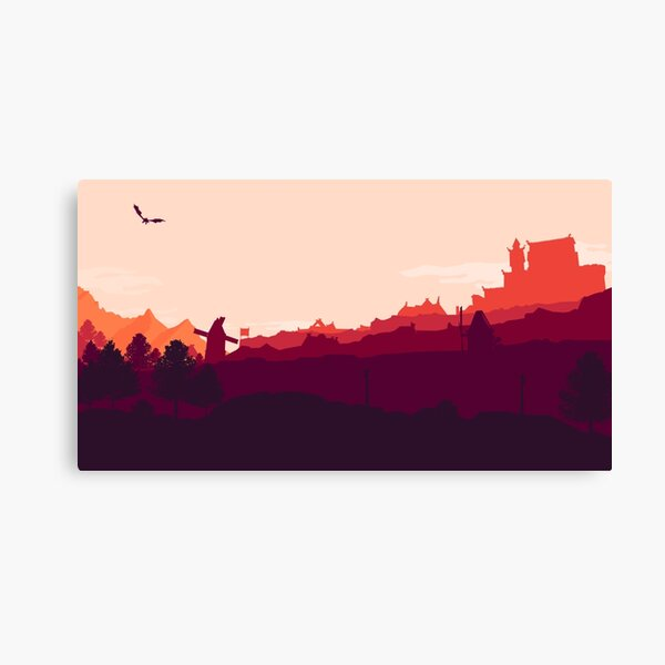 Whiterun Skyrim Canvas Print