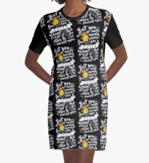 You Are A Torch Against The Night Graphic T-Shirt Dress