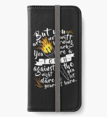 Du bist eine Fackel gegen die Nacht iPhone Flip-Case/Hülle/Klebefolie