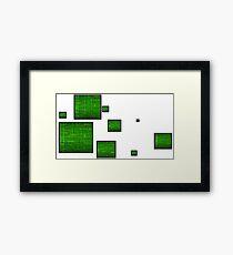 green circuit squares Framed Print