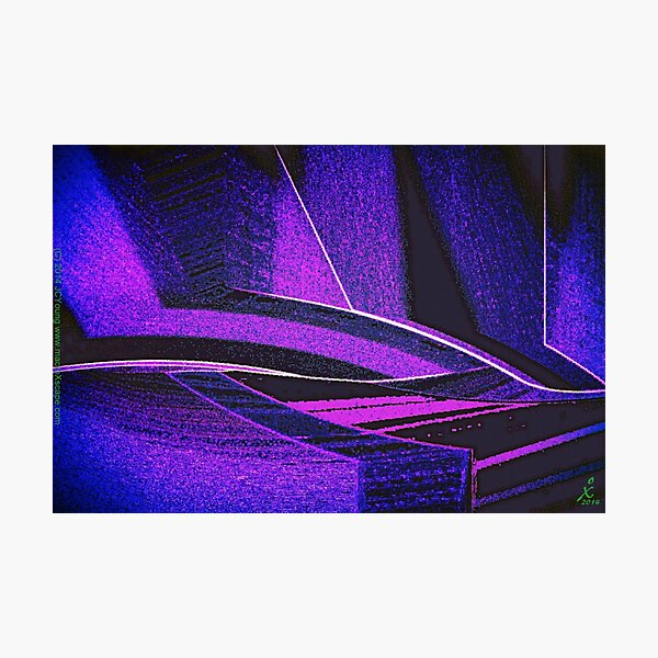Deep Blue Chase Photographic Print