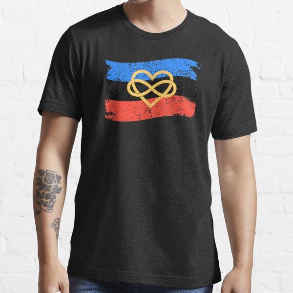 Infinity Heart Polyamory Flag Polyamorous Pride print Essential T-Shirt