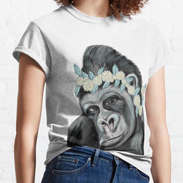 Gorilla mit Blume Classic T-Shirt