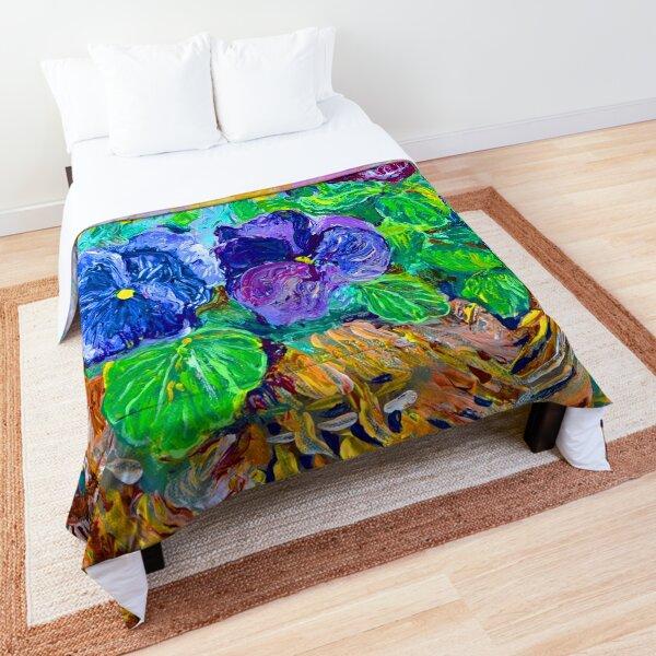 April Pansies Comforter