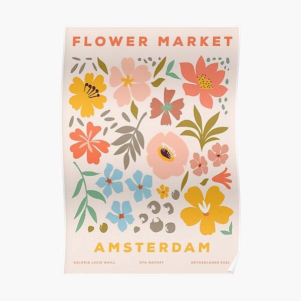 Flower Market Amsterdam Poster