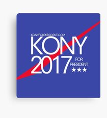Kony 2017 For President Canvas Print