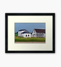 Farm House After The Storm Framed Print