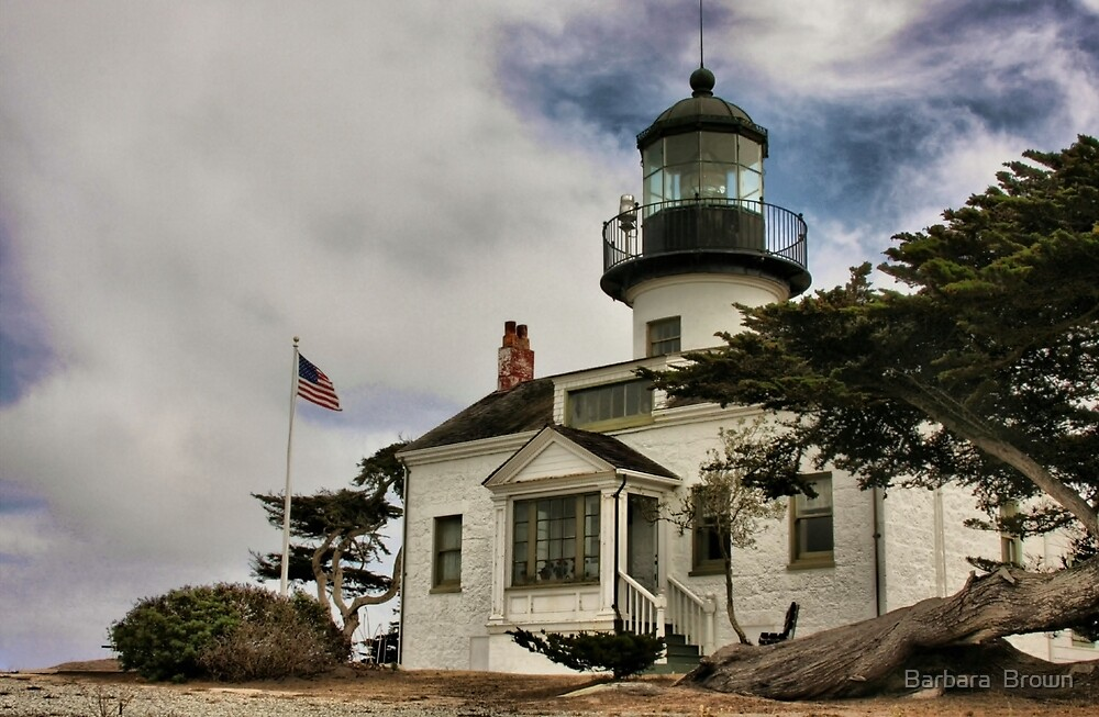 Los Pinos Lighthouse by Barbara  Brown