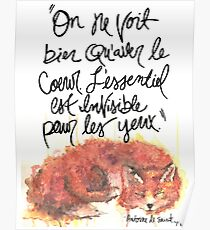 The Little Prince Quote, Fox Poster