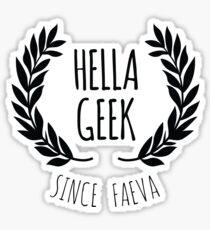 Hella Geek Sticker
