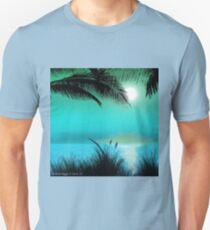 Tropical Island Palm Trees Unisex T-Shirt