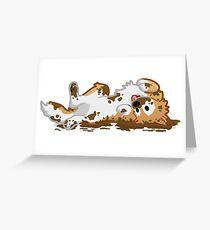 Muddy Pupper Greeting Card