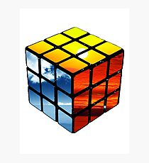 Rubiks Cube Photographic Print