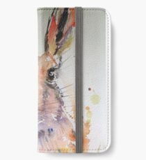 Harold Hare watercolour painting iPhone Wallet/Case/Skin