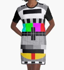 Calibration Test Card, TV monitor film, video geek Graphic T-Shirt Dress
