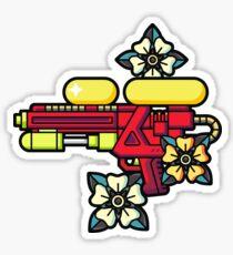 Flowers and watergun Sticker