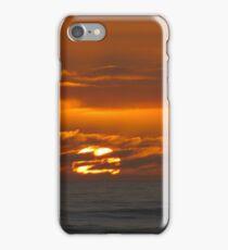 Mercurial seas at sunset iPhone Case/Skin