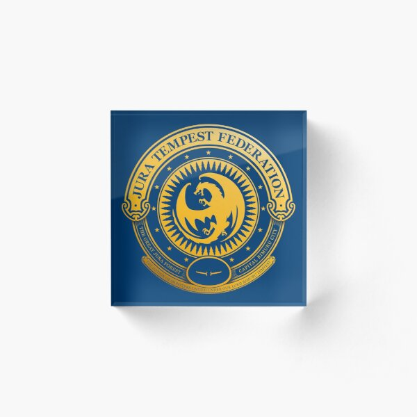 Jura Tempest Federation Seal Acrylic Block