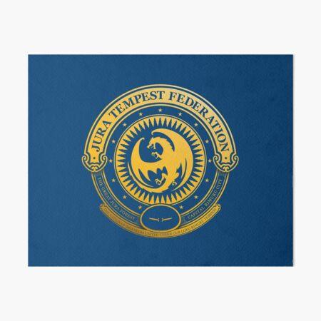 Jura Tempest Federation Seal Art Board Print