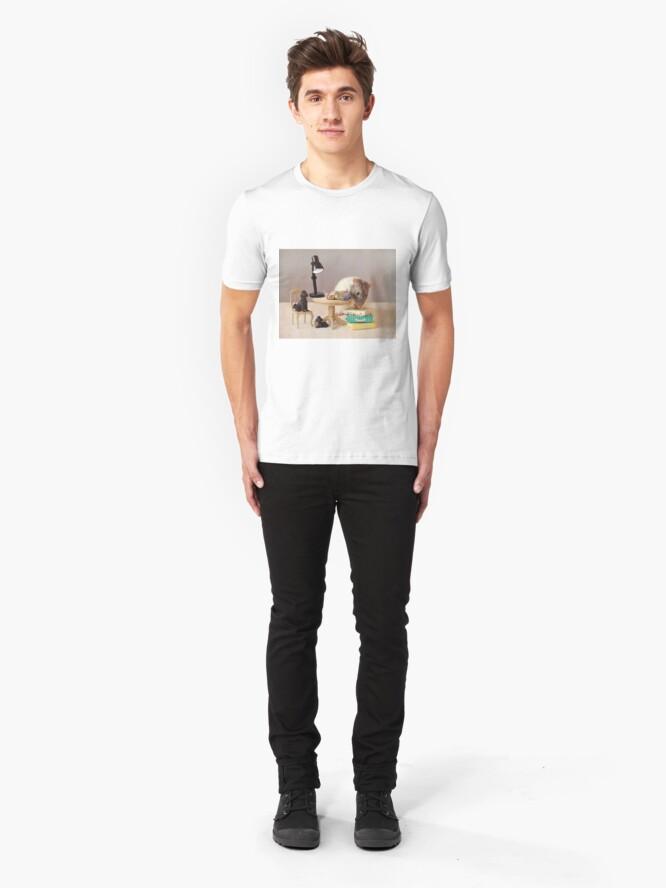Alternate view of Which book shall I read now? Slim Fit T-Shirt