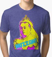 Huzzah! Queen Victoria Psychedelic Pop Art Tri-blend T-Shirt