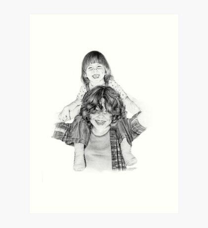Tanya and the Babysitter Art Print