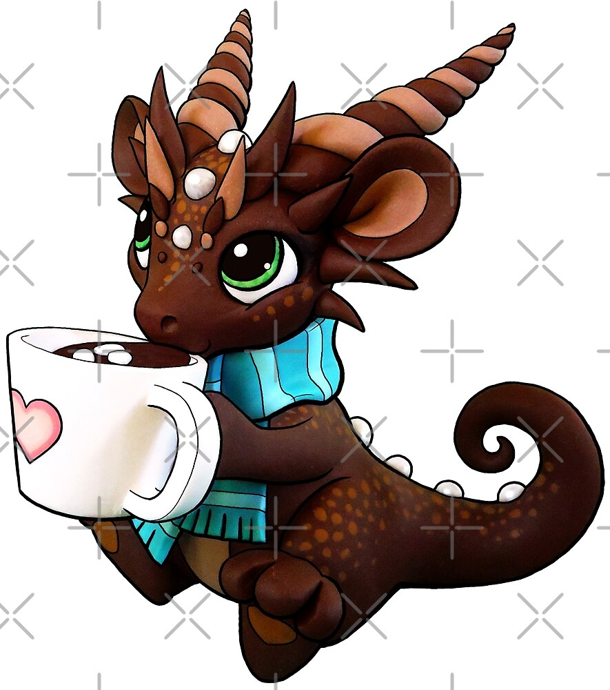 Hot Cocoa Dragon by Rebecca Golins