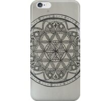 Black and White Seed of Life iPhone Case/Skin