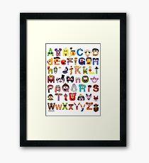 Sesame Street Alphabet Framed Print