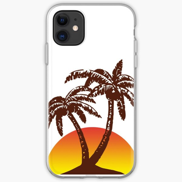 Palm and Sun iPhone Soft Case