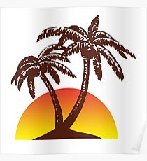 Palm and Sun Poster