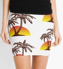Palm and Sun Mini Skirt