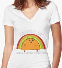 Tacocat spelled backwards is Tacocat Women's Fitted V-Neck T-Shirt