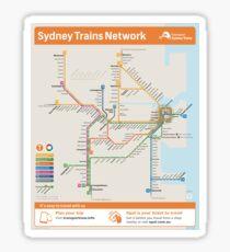 Sydney Train Map Sticker