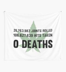 Legalize Weed Cool Funny Smoking Joint Stats Wall Tapestry