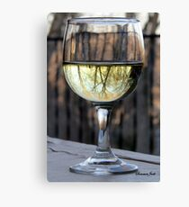 Reflections of Winter in a Glass of Wine Canvas Print