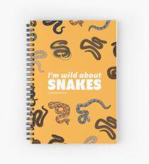 Ich bin wild über Schlangen Spiralblock