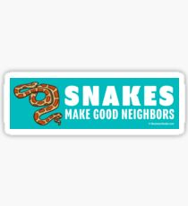 Snakes Make Good Neighbors Sticker