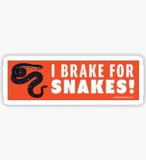 I Brake For Snakes Sticker