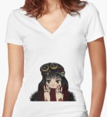 Hell Lola Women's Fitted V-Neck T-Shirt
