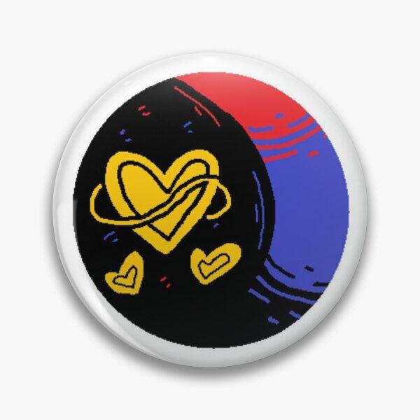 LGBTQ Polyamorous Pride Moon & Hearts Pin