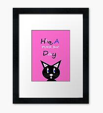 Have A Purrfect Day Framed Print