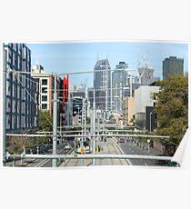 Melbourne City Grid Poster