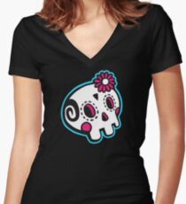 Dead Machine 001 Women's Fitted V-Neck T-Shirt
