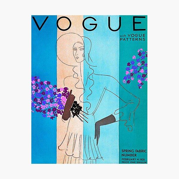 Vintage Vogue February - 1931 Photographic Print