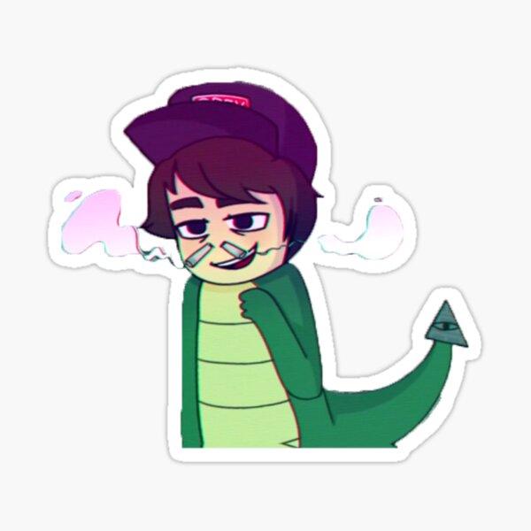 Leafyishere Leafy Reptilian Hiss Sticker Sticker