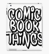 Comic Book Things Sticker iPad Case/Skin