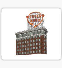 Hand Drawn Kansas City Western Auto Building Sticker