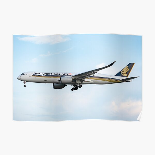 Singapore Airlines Airbus A350-941 Poster